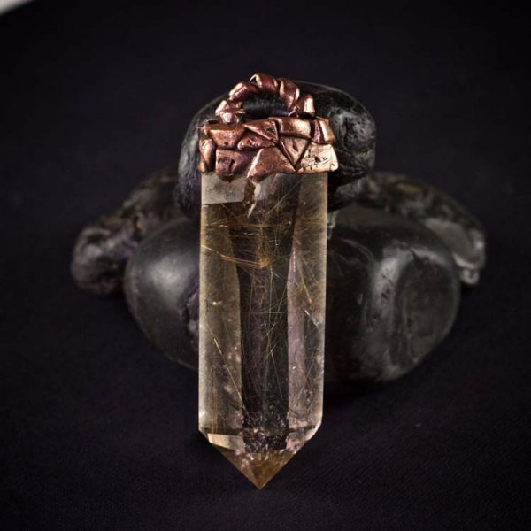 Rutilated Quartz Talisman Pendant B by Healing Stones for You