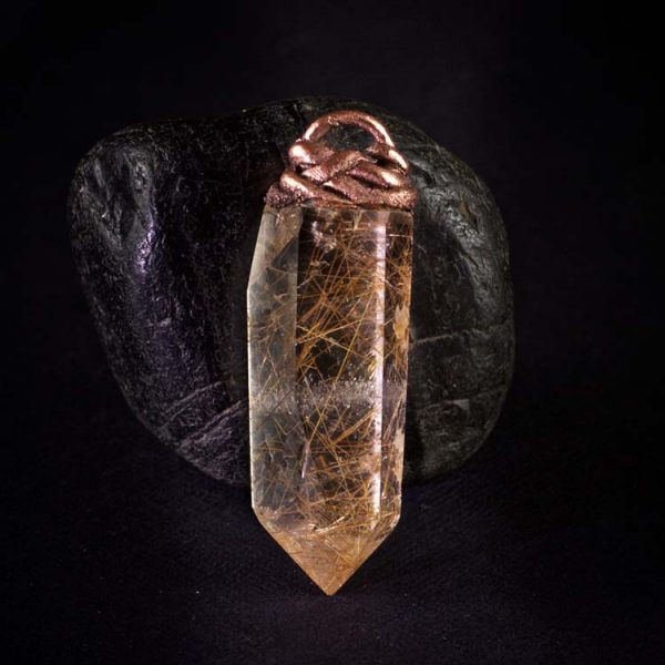 Rutilated Quartz Talisman Pendant C by Healing Stones for You