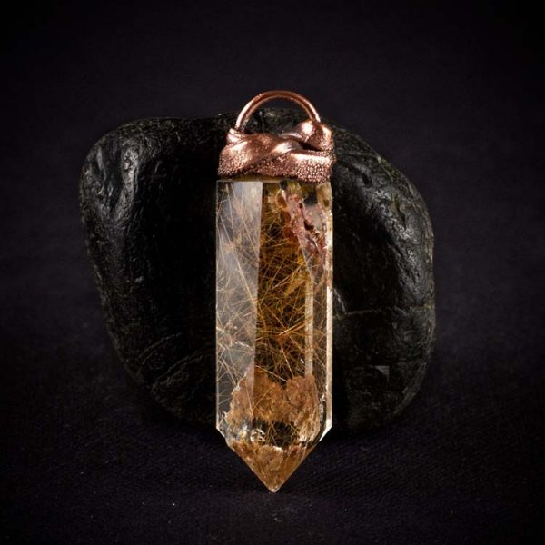 Rutilated Quartz Talisman Pendant E by Healing Stones for You