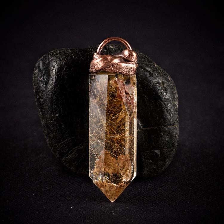 Rutilated Quartz Talisman Pendant E by Healing Stones for You