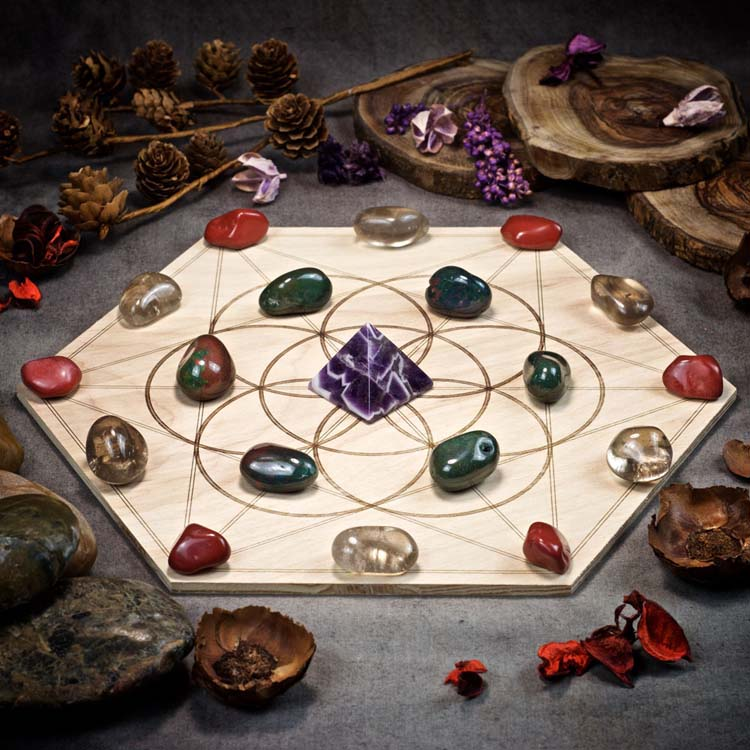 Sweet Dreams Large Crystal Grid Set by Healing Stones for You