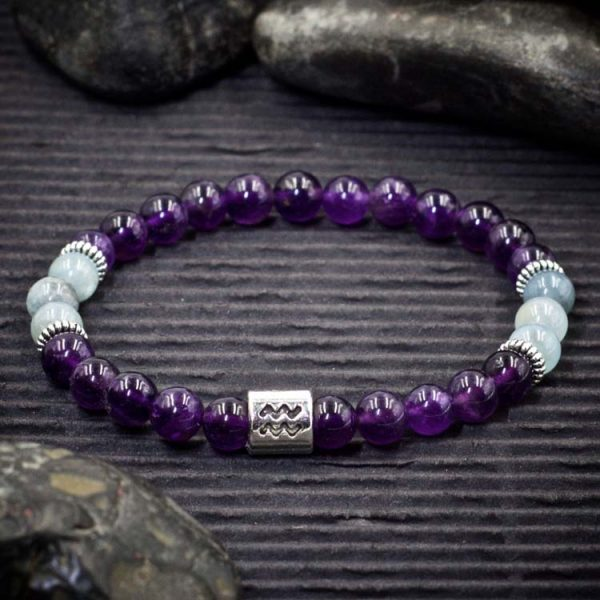 Aquarius Zodiac Bracelet by Healing Stones for You