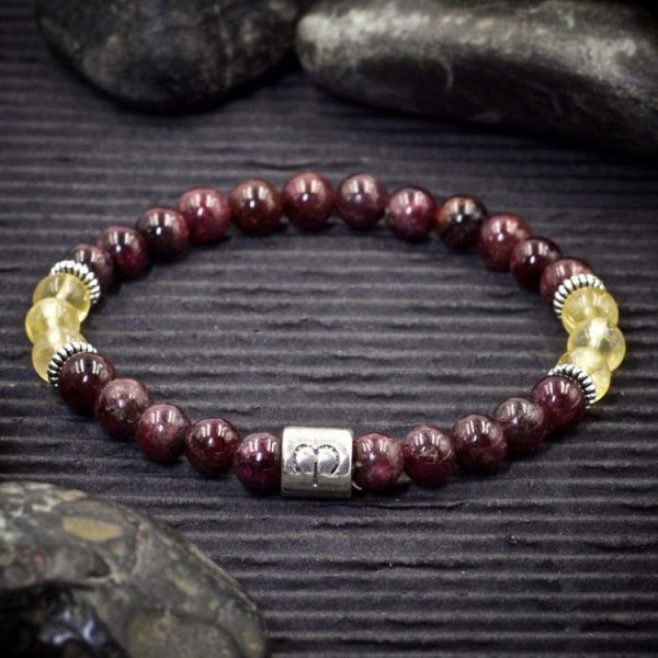 Aries Zodiac Bracelet by Healing Stones for You