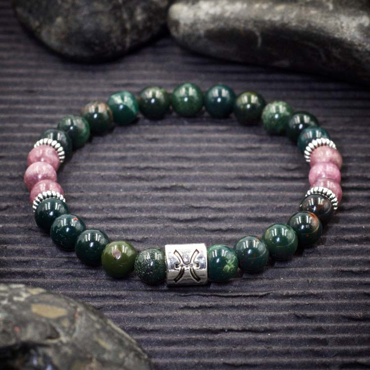 Pisces Zodiac Bracelet by Healing Stones for You