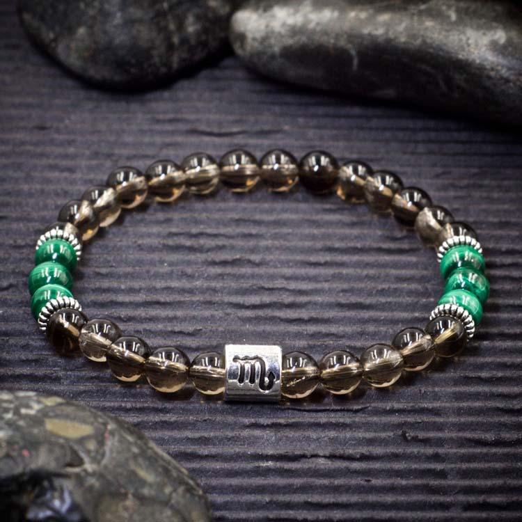 Scorpio Zodiac Bracelet by Healing Stones for You