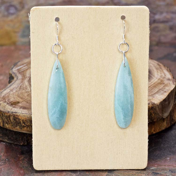 Amazonite Dangle Earrings from Healing Stones for You