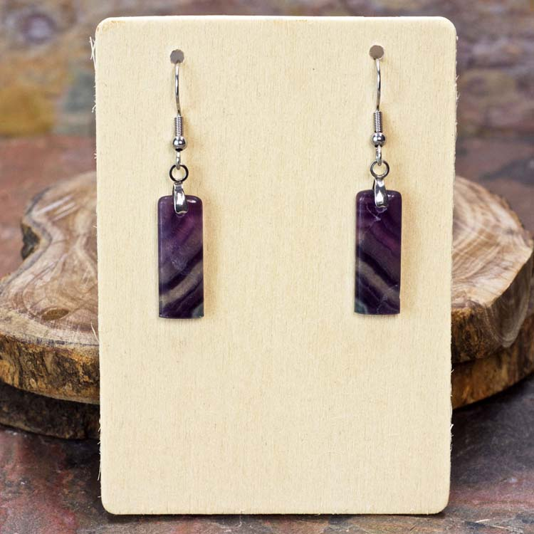 Fluorite Dangle Earrings by Healing Stones for You