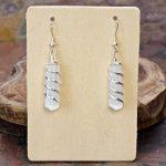 Selenite Point Coil Wrapped Earrings