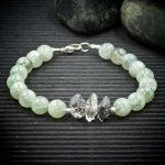 Siberian Moonstone and Herkimer Diamond Bracelet from Healing Stones for You
