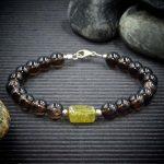 Smoky Quartz and Green Garnet Bracelet by Healing Stones for You