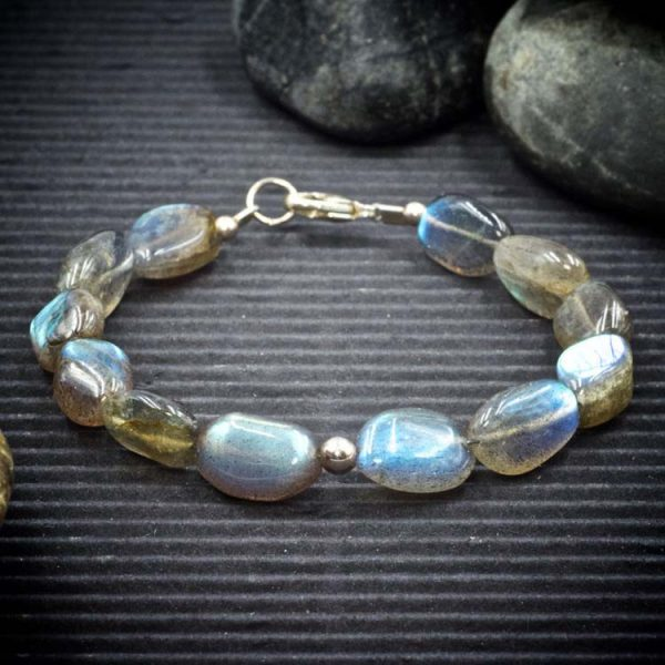 Labradorite Freeform Oval Bracelet by Healing Stones for You