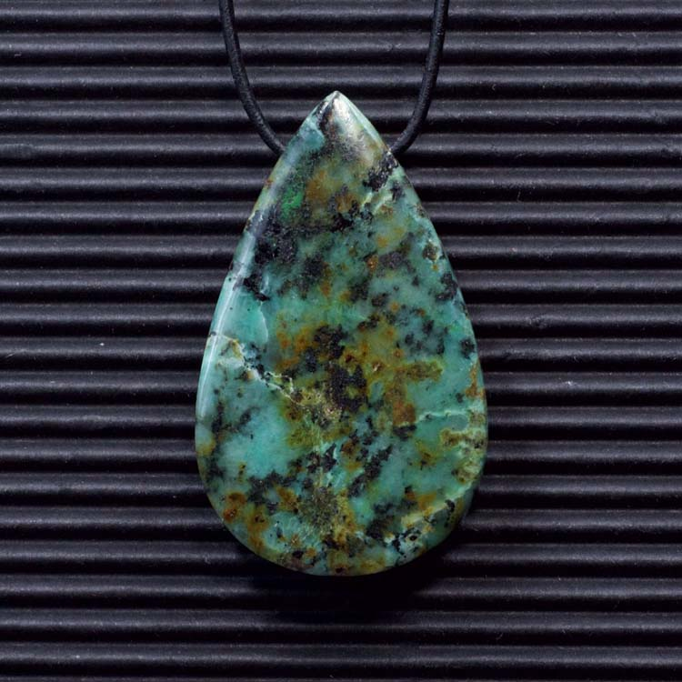 African Turquoise Double Sided Pendant