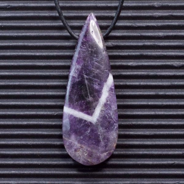 Chevron Amethyst Double Sided Pendant