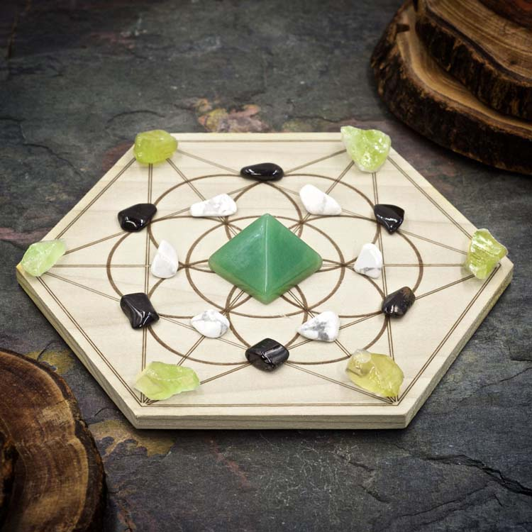Panic and Anxiety Relief Mini Crystal Grid Set