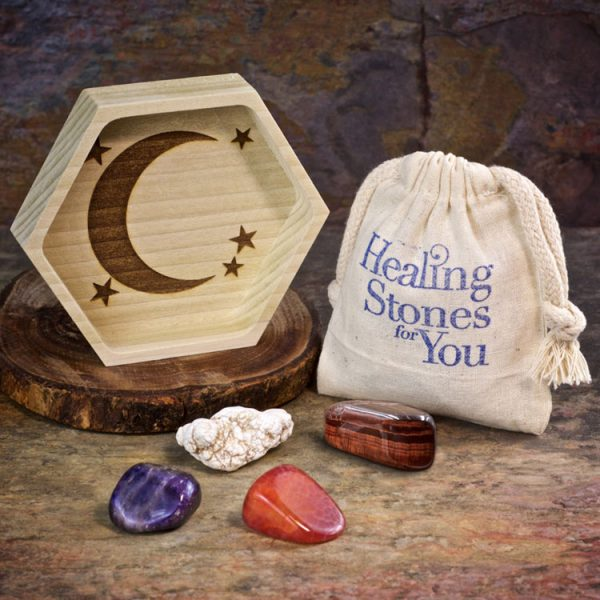 Weight Loss Crystal Intention Set with Wood Dish