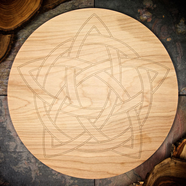 Celtic Star Large Grid Board by Healing Stones for You