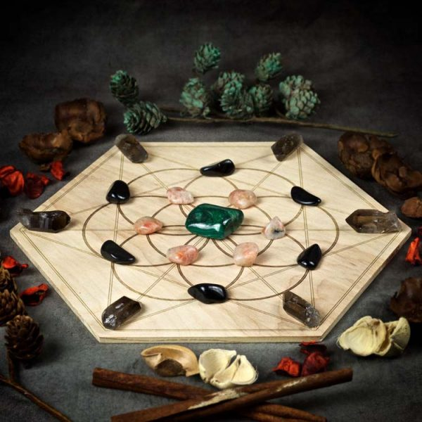 Step into your Power Large Crystal Grid Set
