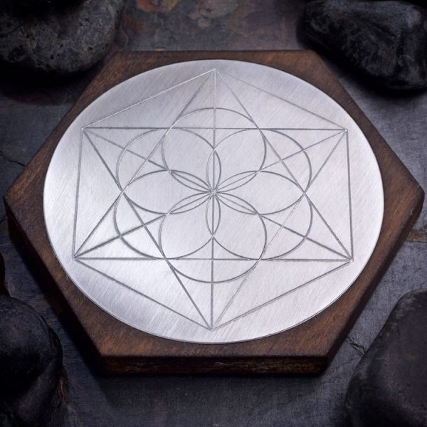 Aluminum Seed of Life Mini Grid Board by Healing Stones for You