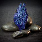 Titanium Dichroic Black Kyanite Blades