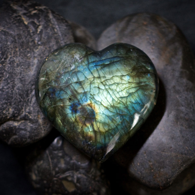 Labradorite Hearts