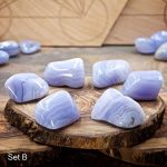 Blue Lace Agate Crystals for Grids