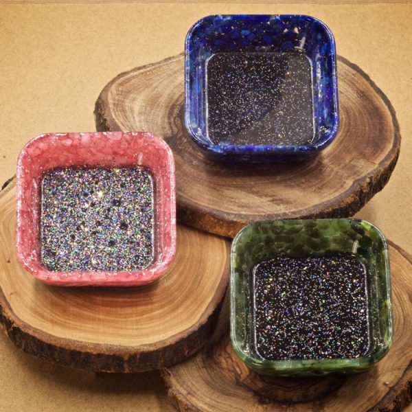 Mini Crystal Square Bowls by Healing Stones for You