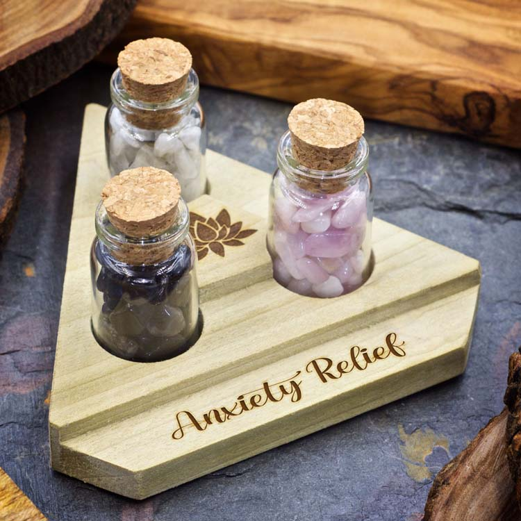 Anxiety Relief Mini Crystal Apothecary Set