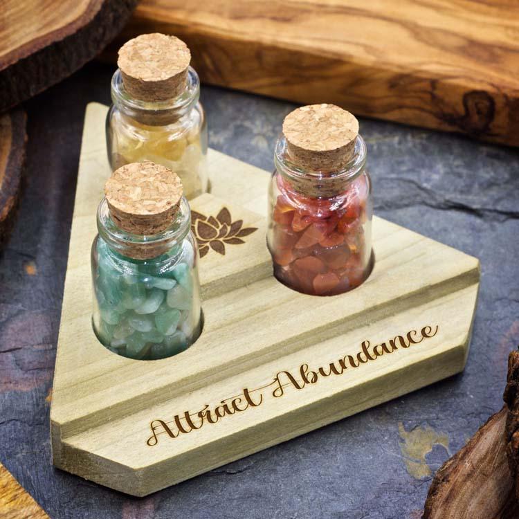 Attract Abundance Mini Crystal Apothecary Set