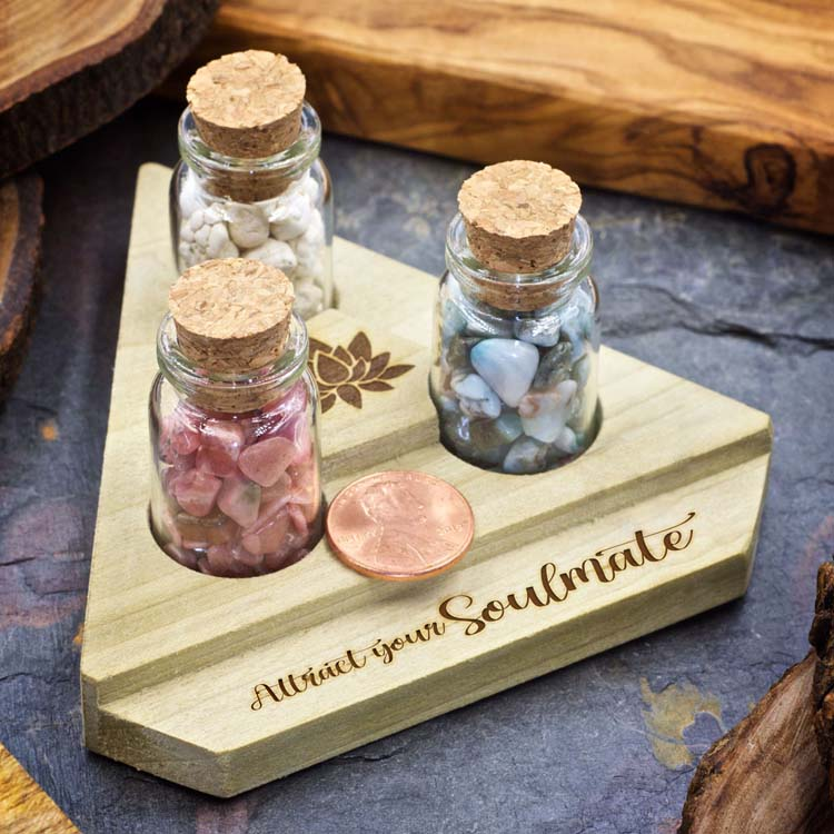 Attract Your Soulmate Mini Crystal Apothecary Set