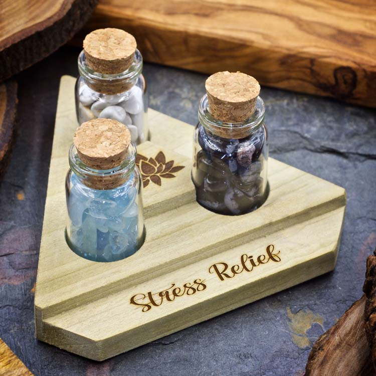 Stress Relief Mini Crystal Apothecary Set