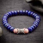 Lapis Lazuli and Rhodochrosite Bracelet