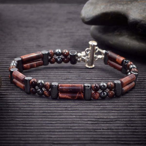 Red Tiger Eye Double Power Bracelet