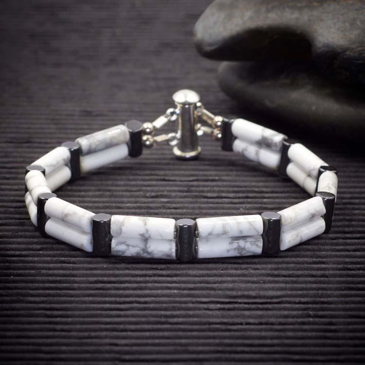 Howlite Double Power Bracelet