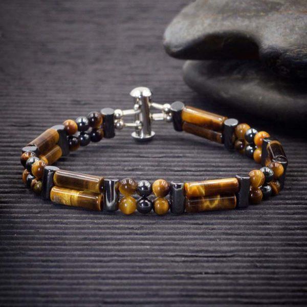 Gold Tiger Eye Double Power Bracelet