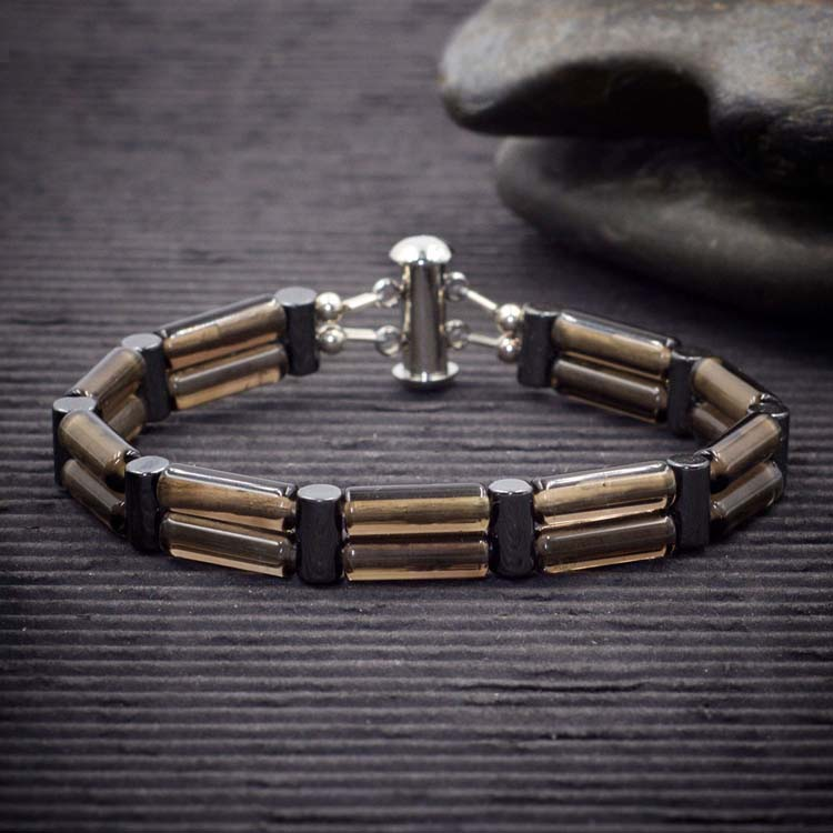 Smoky Quartz Double Power Bracelet