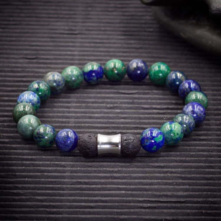 Azurite Malachite Aromatherapy Bracelet