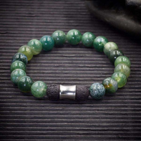 Moss Agate Aromatherapy Bracelet