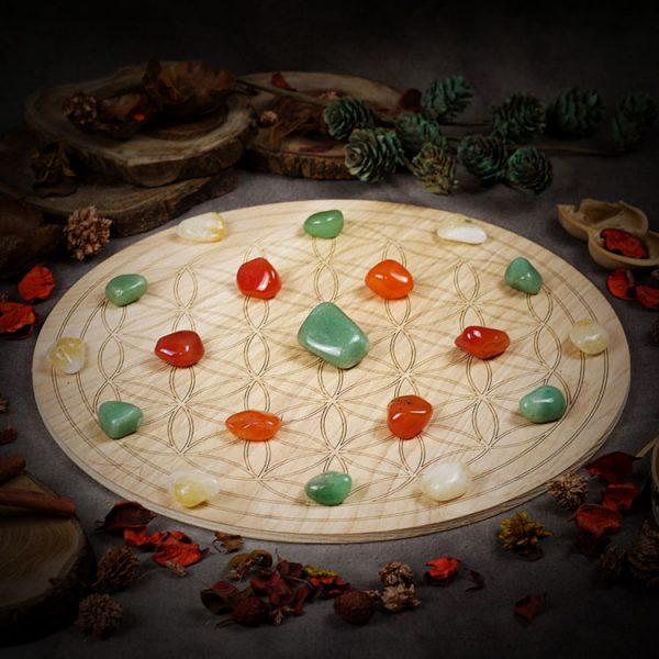 Attract Abundance Large Crystal Grid Set