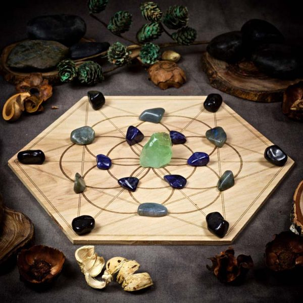 Panic and Anxiety Relief Large Crystal Grid Set