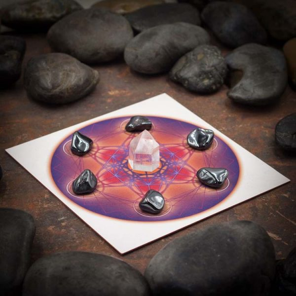 Metatrons Cube Mini Color Starter Grid with Hematite