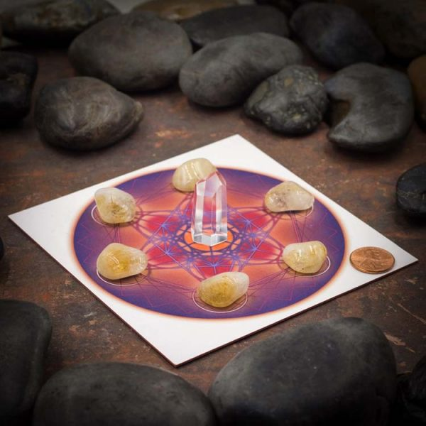 Metatrons Cube Mini Color Starter Grid with Citrine