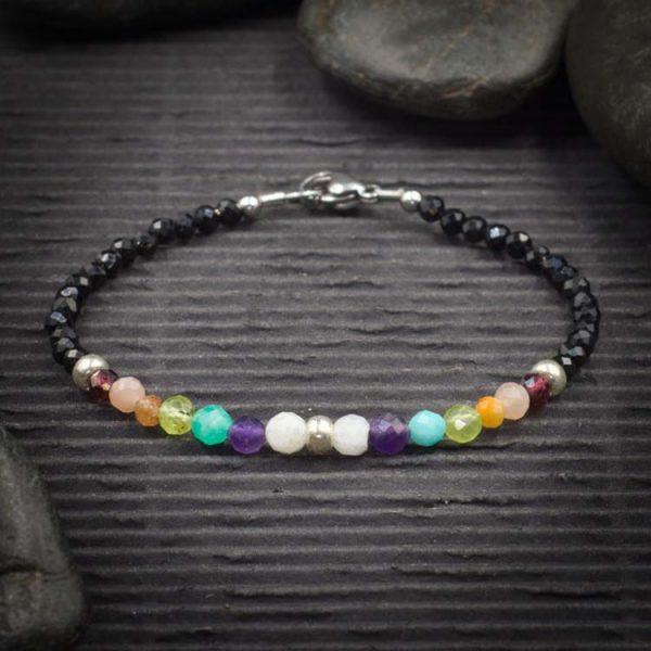 7 Chakra Mini Faceted Crystal Bracelet